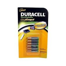 Duracell® Rechargeable AAA StayCharged™ 6 Pack Batteries 800 mAh