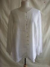 Ladies Blouse Selective size 18, white 100% linen smart/casual s- 1952