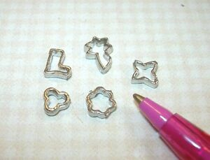 Set A Miniature Metal Cookie Cutters for DOLLHOUSE Miniatures 1:12 Scale