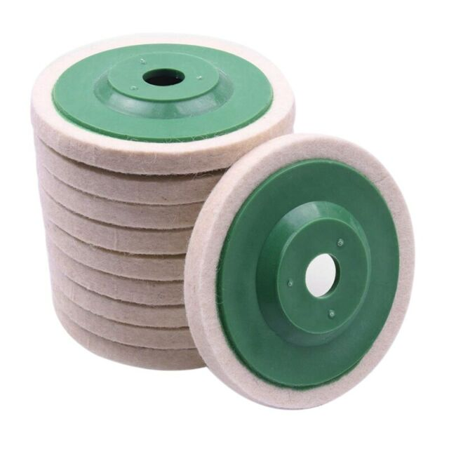 10Pcs 100Mm 4 Inch Wool Buffing Round Polishing Wheels Pads Polisher Wheels L6C8