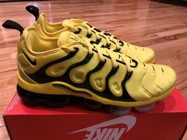 new concept 4760a 4d129 Nike Air Vapormax Plus Opti Yellow Black Bv6079 700 Men's Size 11