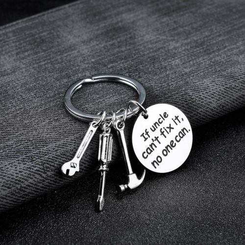 Family Keychain Gift For Dad Grandpa Uncle Keyring Key Chain Pendant Charm Tool