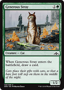 129 Generous Stray Guilds of Ravnica Mtg x4 4x GRN Magic