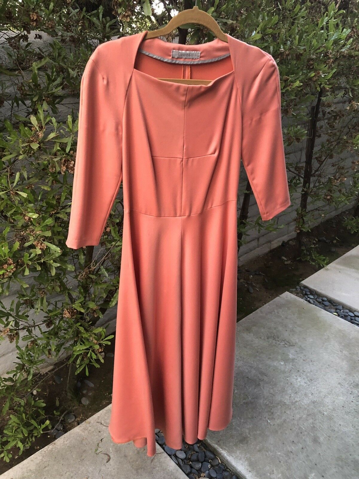 DIMANEU orange Dress Viscose Blend Size S ()