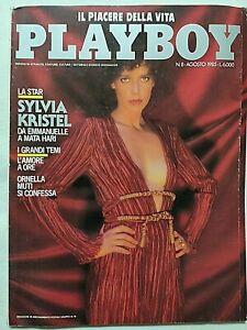 PLAYBOY ITALIA 8 AGOSTO 1985 SYLVIA KRISTEL EMMANUELLE