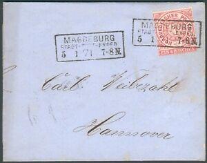 NDP-Brief-Magdeburg-1871-orig-gelaufen-nach-Hannover-RARITAT