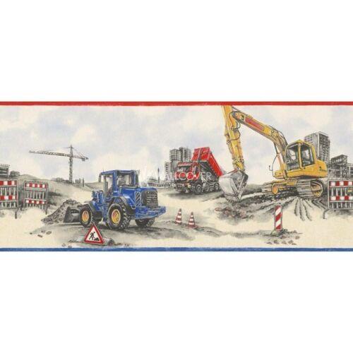 Camion Tractopelle Construction Enfants Garçons Enfants Papier Peint Bordure Rasch 293609