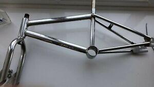 Raleigh-Mini-chrome-burner-Bmx-frame-amp-forks-80s-Old-School-mongoose-haro-redline