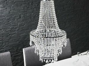 Precious chandelier light clear transparent hanging lamp 27 5 8in x