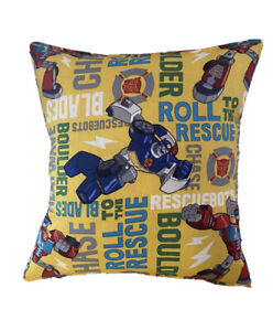 Transformers Pillow Rescue Bots Pillow Classic Cartoon Rare Made in USA