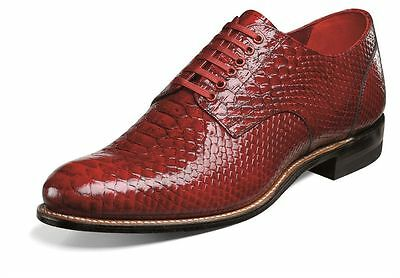 Stacy Adams Mens Madison Brown Anaconda Print Dress Oxford Club Party Lace Shoe