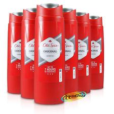 6x Old Spice Original Body Shower Gel 250ml Long Lasting Fragrance For Men