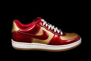 Nike AIR FORCE 1 DOWNTOWN LTH QS IRONMAN Sz 13 VARSITY RED GOLD