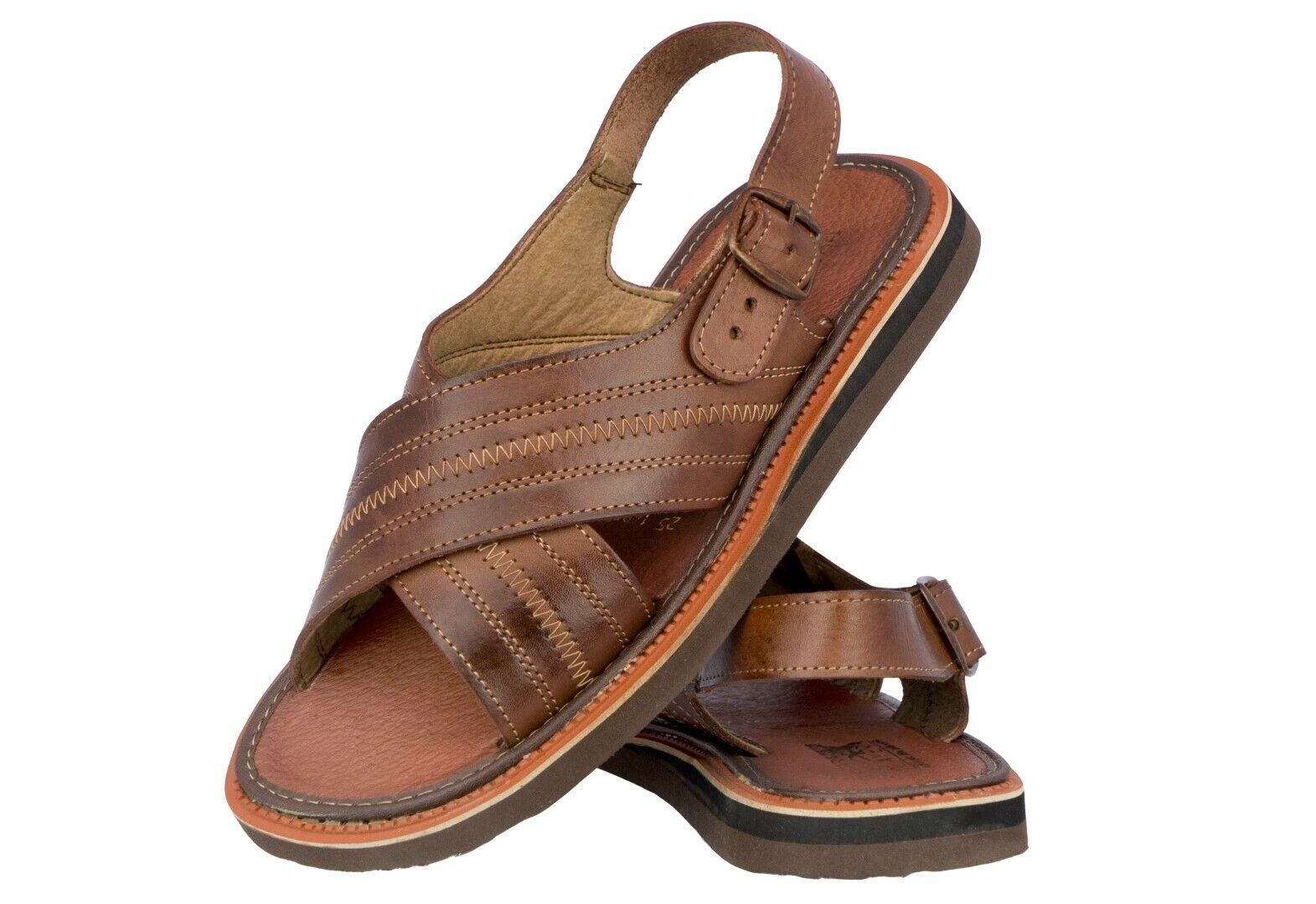 Mens Real Leather Authentic Mexican Huaraches Buckle Open Toe Sandals Chedron