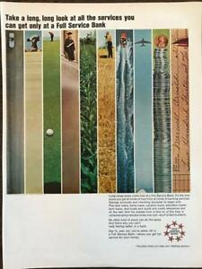 ORIGINAL-1965-Full-Service-Bank-Print-Ad-A-Long-Long-Look
