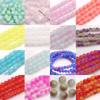 Wholesale 50/100/200Pcs Round Chic Czech Glass Loose Spacers Beads DIY 4mm 6mm