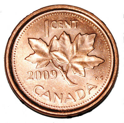 2009 RCM Logo Penny 1 One Cent /'09 Canada Canadian BU LOT of 10