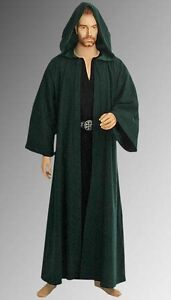 Handmade Medieval Natural Cotton Wicca Details Pagan About Robe With Ritual Hood qpLUMVzSG