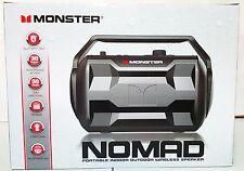 New Monster Nomad Bluetooth Wireless Portable Audio System Speaker Black
