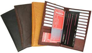 Genuine-Leather-19-Slots-Credit-Card-Holder-Wallet-ID-Window-Men-Women-New