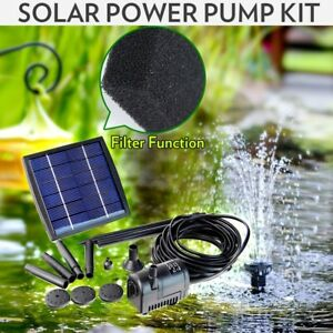 Solar-Power-Fountain-Garden-Pond-Pool-Water-Feature-Pump-Kit-Panel-Submersible