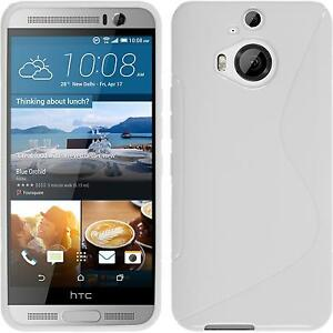Silicone-Case-for-HTC-One-M9-Plus-S-Style-white-protective-foils