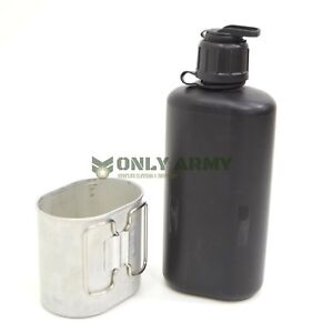 Swiss-Army-Bottle-Cup-Military-Canteen-Camping-Outdoor-Metal-Boiling-Cooking