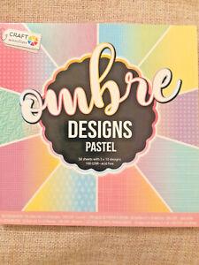 50-feuilles-ombre-pastel-Motifs-Scrapbooking-Cardmaking-Paper-Pad-Art-Craft