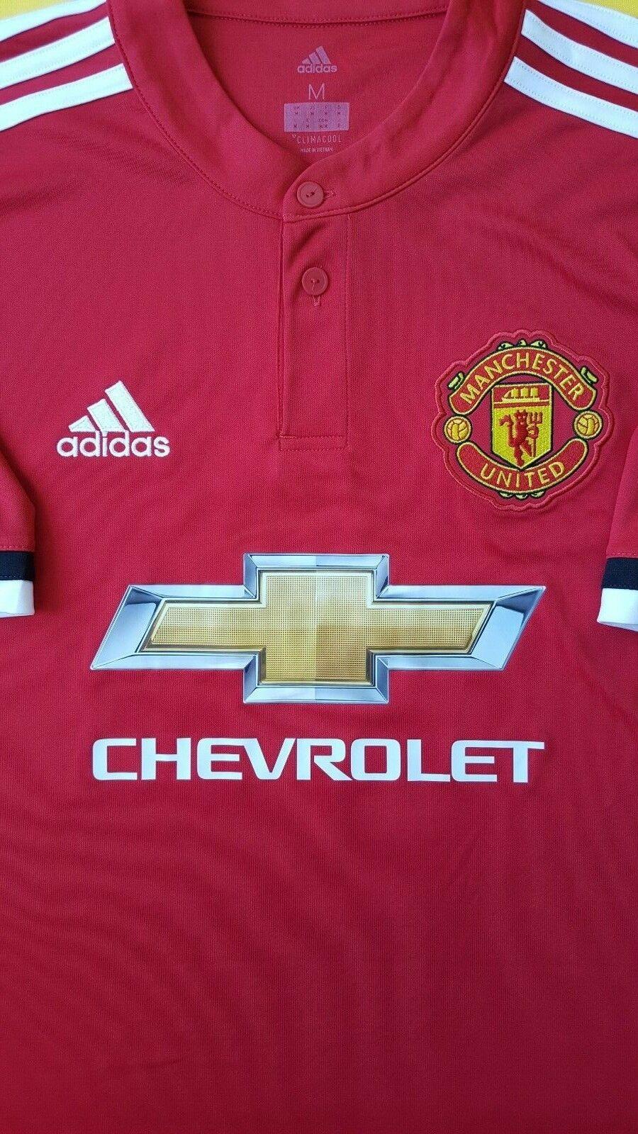 5+ 5 Pogba Manchester United jersey medium 2018 shirt shirt shirt BS1214 Adidas soccer ig93 1e6920