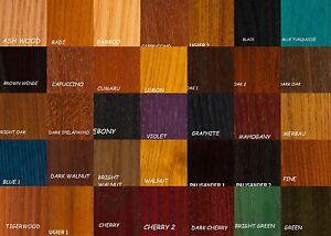 Image Is Loading Water Based Wood Stain 67 Colours Woodworking Diy