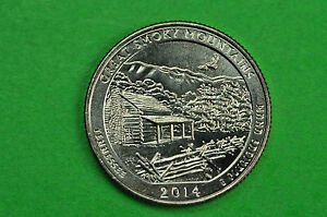Brilliant Uncirculated 2014 P /& D US Great Smoky Mountains 25 Cents