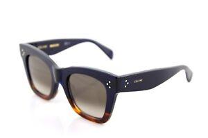 cd8bd2eb97e6 Image is loading RARE-Authentic-CELINE-CATHERINE-SMALL-Blue-Havana- Sunglasses-