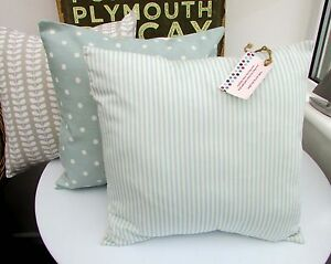 SHABBY CHIC CUSHION COVER DUCK EGG BLUE STRIPE MARLOW SEASIDE TURQUOISE SHABBY - <span itemprop='availableAtOrFrom'>Wirral, United Kingdom</span> - SHABBY CHIC CUSHION COVER DUCK EGG BLUE STRIPE MARLOW SEASIDE TURQUOISE SHABBY - Wirral, United Kingdom