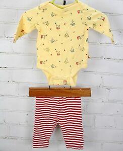 BABY-GAP-Outfit-Set-Circus-One-Piece-Romper-Bodysuit-amp-Pants-Newborn-Boys-0-3-M