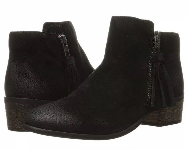 MIA Ankle Boots Leather Emerson Tassel Black, size 8 or 8.5
