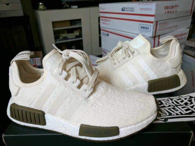 cab3a27f92a7c Adidas NMD R1 Nomad Runner Boost Chalk White Trace Olive Champs Exclusive  CQ0758