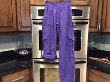 Zumba Feelin it Cargo pants new purple silver workout gym nwt large l