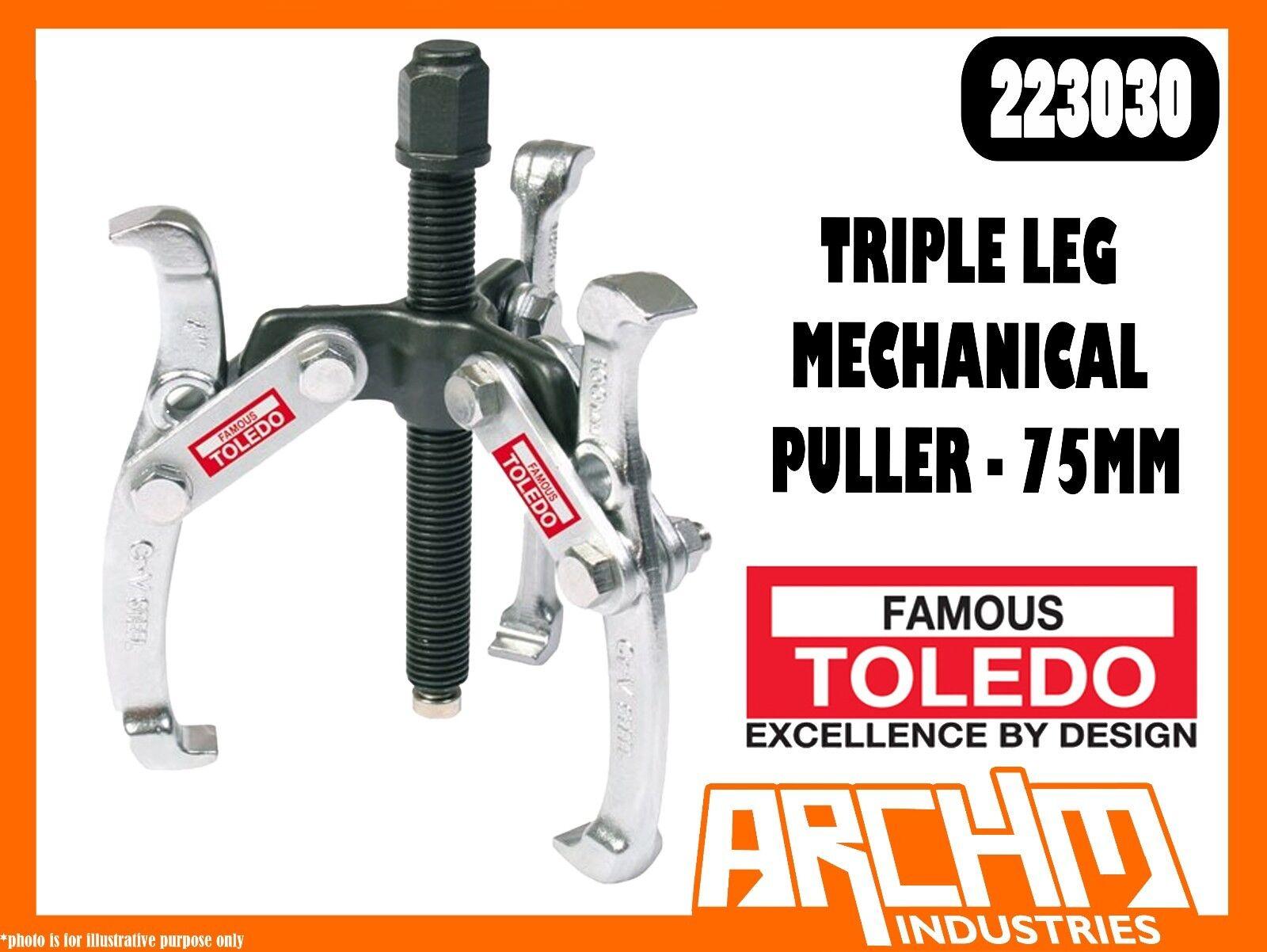 TOLEDO 223030 - TRIPLE LEG MECHANICAL PULLER - 75MM - INTERNAL EXTERNAL 1 TONNE