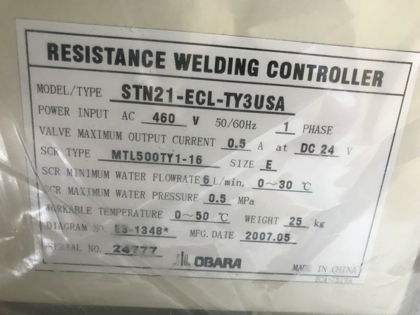 Obara Stn21 Ecl Ty3 Usa Resistance Welding Controller Diagram Norton Secured Powered By Verisign