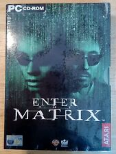 Enter The Matrix New Factory Sealed Pc Cd Rom Big 'er Box version 🎮🎮🎮🎮🎮🎮🎮