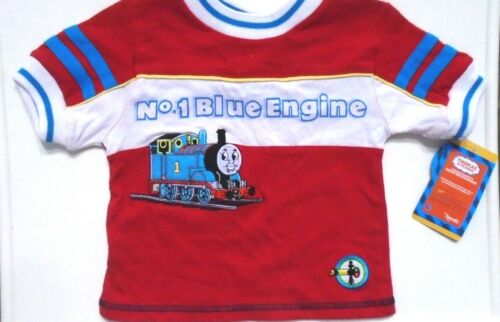 NWT THOMAS /& FRIENDS TODDLER BOYS TRAIN ENGINE SHIRT RED BLUE RARE VINTAGE 2T