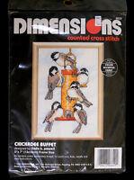 Dimensions Counted Cross Stitch Chickadee Buffet 5 X 7 Linda K. Powell