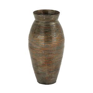 Unique Large 20 Quot Bamboo Floor Vase Tuscan Antique Old