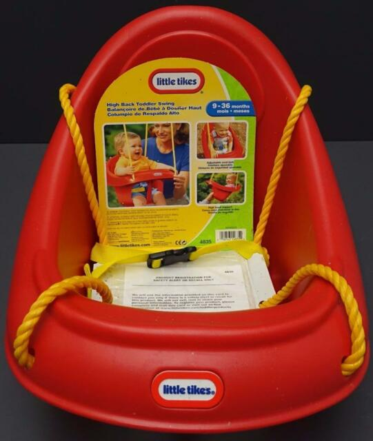 New Little Tikes High Back Red Toddler Swing 4835 9 36m Plastic