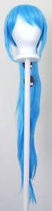 40'' Wavy Pony Tail + Base Sky Blue Cosplay Wig NEW