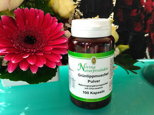 100-Gruenlippmuschel-Kapseln-Gruenlipp-Muschel-Pulver-Glucosamin-haltig-Noering