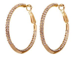 Swarovski-Elements-Crystal-1-1-2-034-Baha-Hoop-Earrings-Gold-Plated-Authentic-7214z