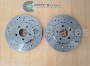 Ford Mondeo III Jaguar X type Performance Drilled /& Grooved Rear Brake Discs