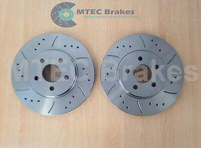 Ford Mondeo ST ST220 mk3 Front Drilled Grooved Brake Discs MTEC Performance