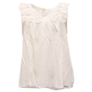 san francisco 61651 46cbf Details about 2071S maglia bimba CHLOE' top avorio t-shirt kid